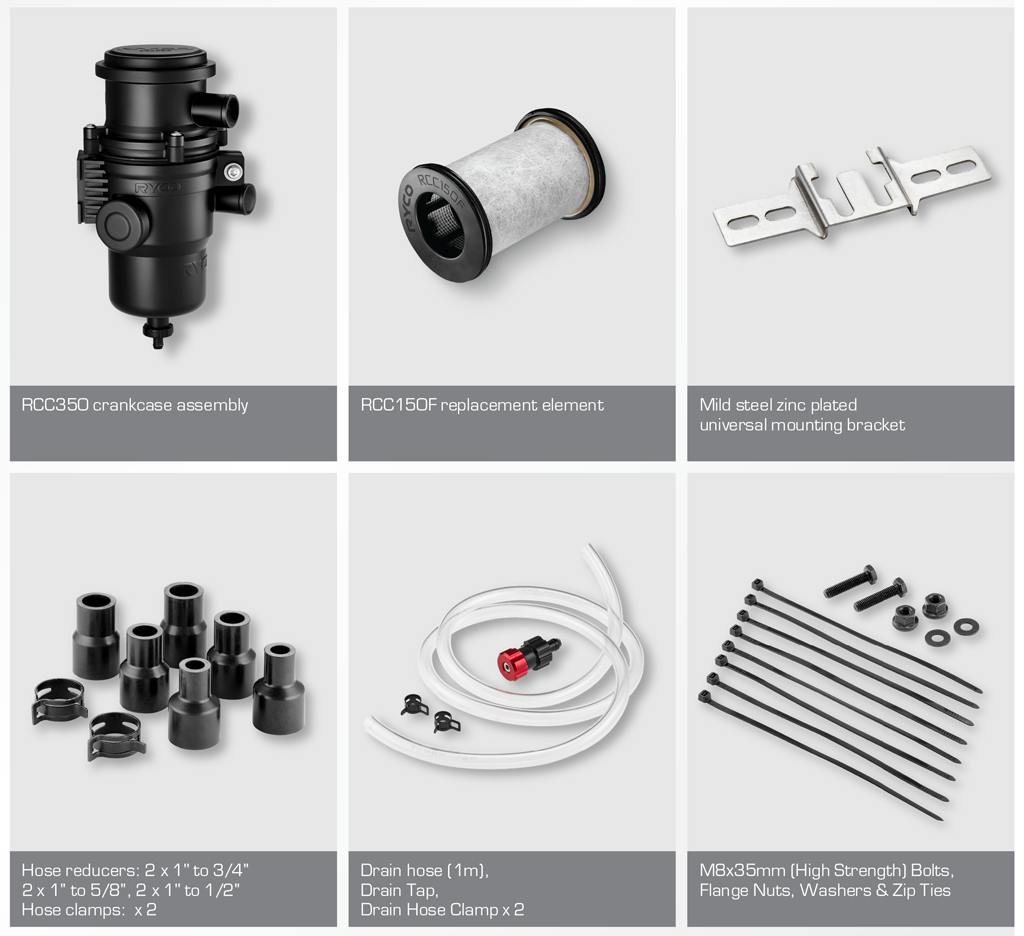 RCC350 Crankcase Filter Kit